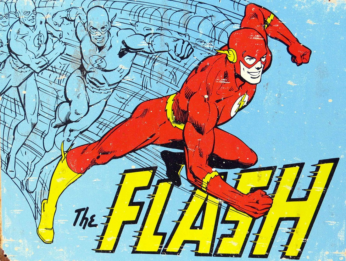 Le héros de comic The Flash