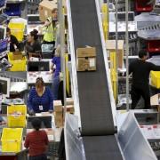 Workers prepare orders